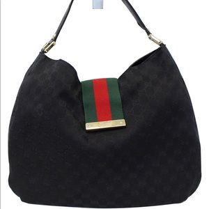 Gucci Monogram Large Web Hobo
